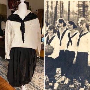 Antique 1920 women's basketball uniform